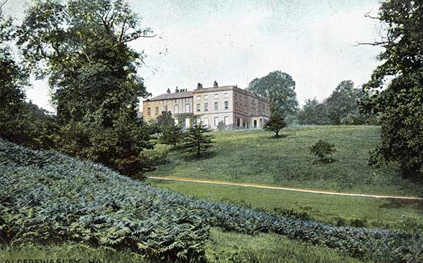 Post card of Alderwasley Hall  late 1890s