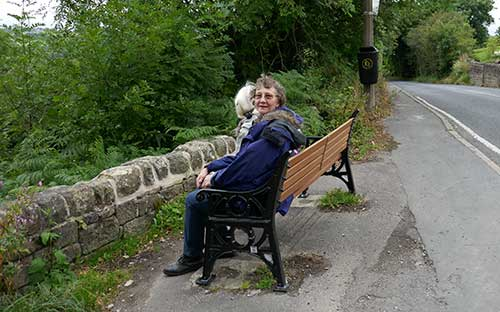 Photograph of the new seat at Shaws Hill