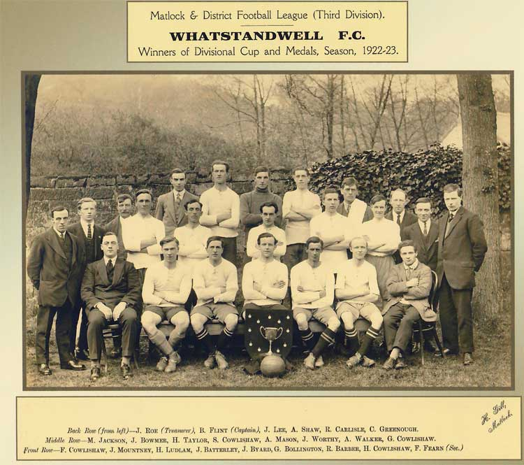 Photograoh of Whatstandwell Football Club 1922-23