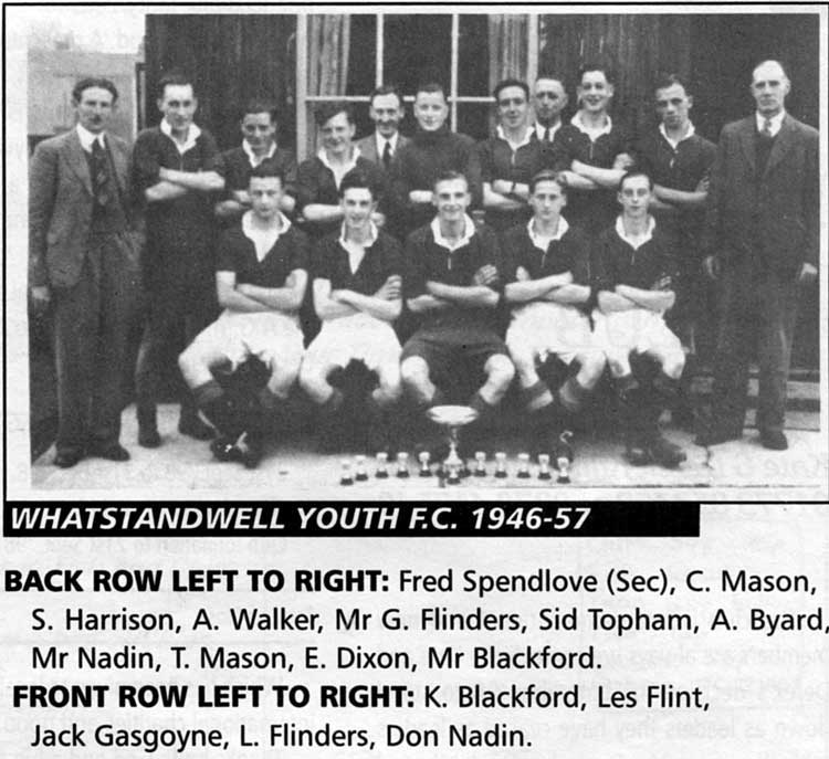 Photograph Whatstandwell Youth Football team 1946-47