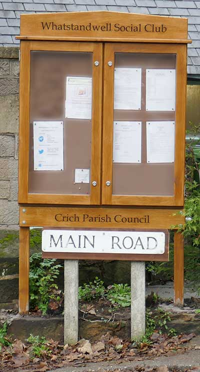 Notice board outside the Family Tree