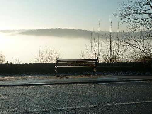 seat at the bottom of Shaws Hill December 2016
